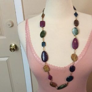 Multi Colored Statement Necklace